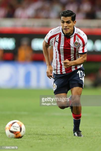 Jesus Sanchez of Chivas drives the ball during the 16th round match between Chivas and Leon as part of the Torneo Clausura 2019 Liga MX at Akron...