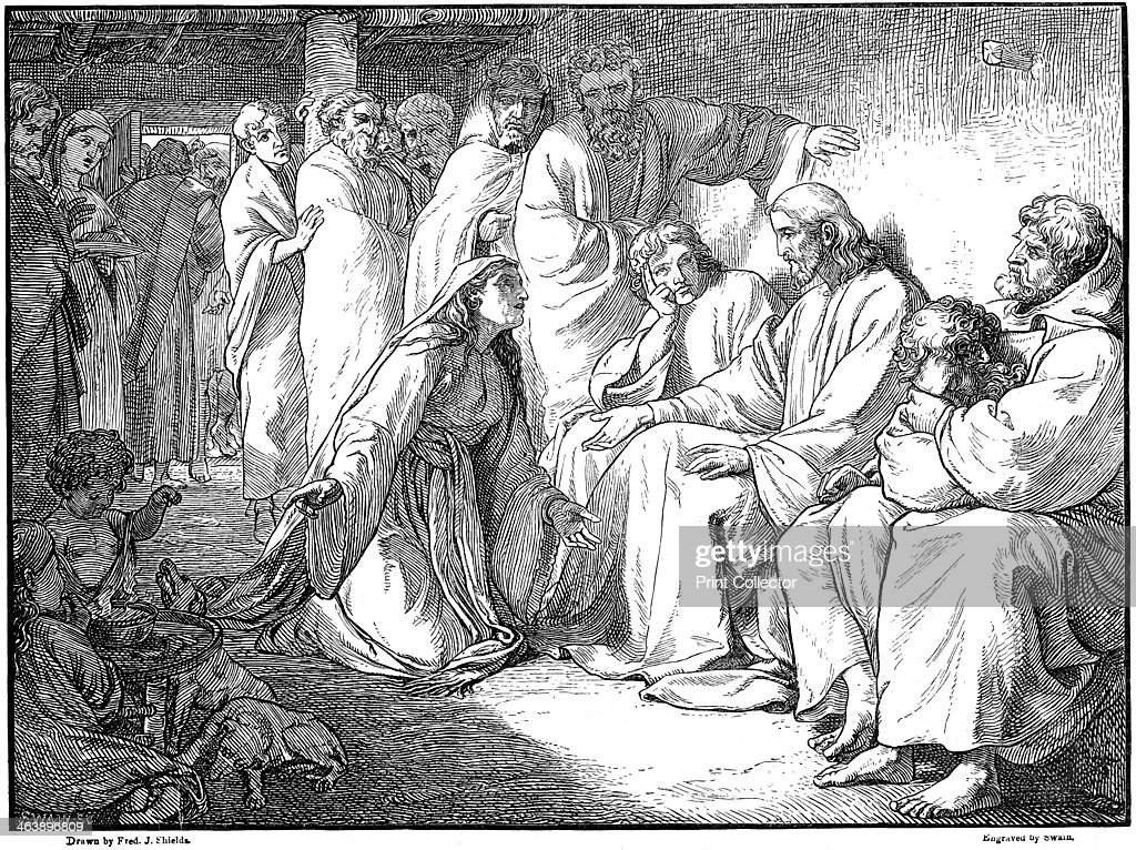Jesus speaking with the woman of Canaan, 1865. : News Photo