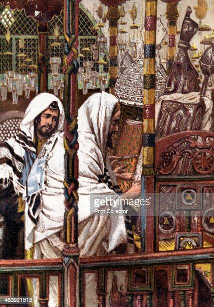 Jesus teaching in the Synagogue c1897 From Life of Our Saviour Jesus Christ by JJ Tissot