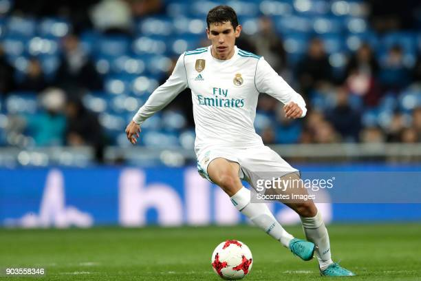 Jesus Vallejo of Real Madrid during the Spanish Copa del Rey match between Real Madrid v Numancia on January 10 2018