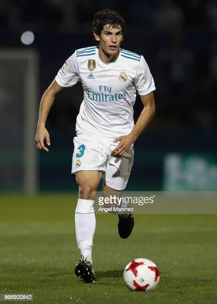 Jesus Vallejo of Real Madrid in action during the Copa del Rey round of 32 first leg match between Fuenlabrada and Real Madrid CF at Estadio Fernando...