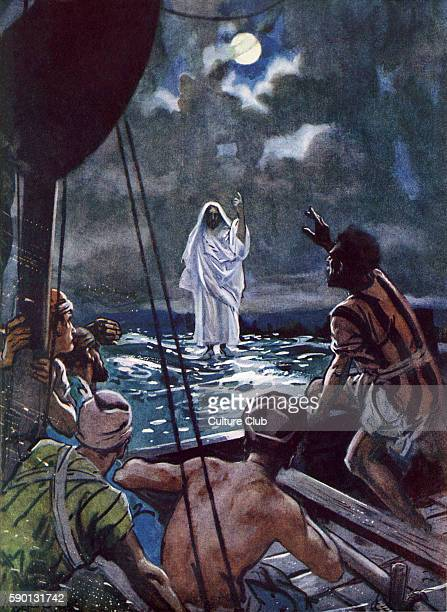 Jesus walking on the Sea of Galilee 'Shortly before dawn Jesus went out to them walking on the lake 2 When the disciples saw him walking on the lake...