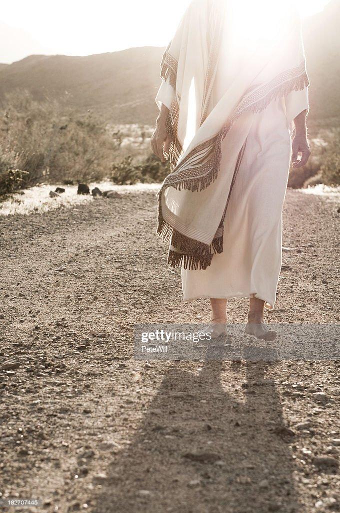 Jesus Walking Towards : Stock Photo