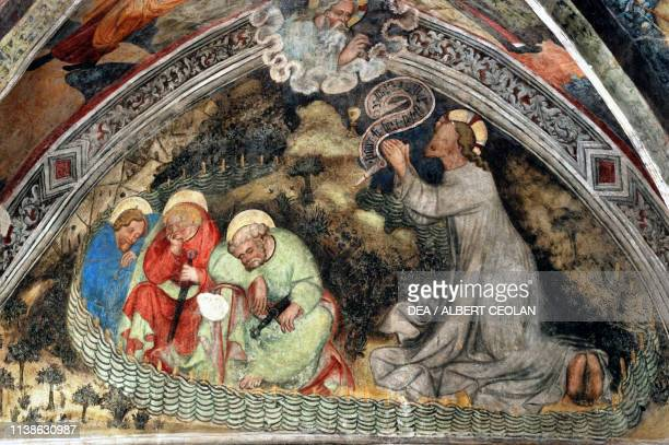 Jesus with his disciples at Gethsemane 1465 ca fresco on the cloister vaults cathedral of Saint Mary of the Assumption and Saint Cassian Brixen...