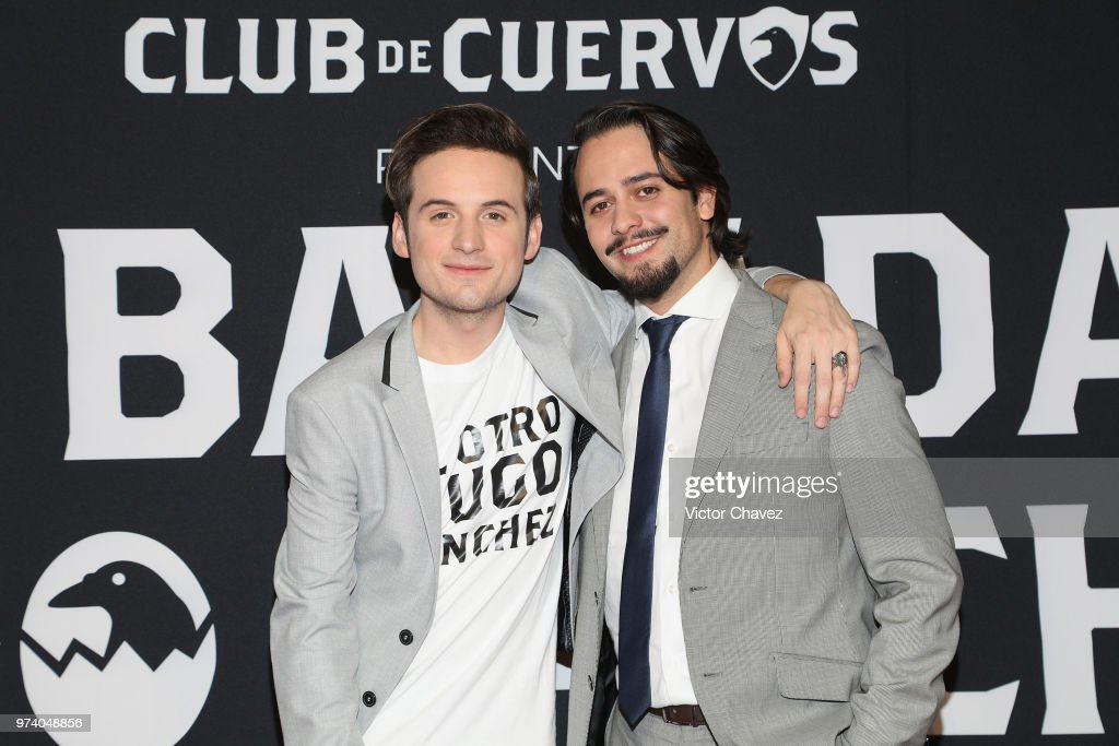 Jesus Zavala and Aldo Escalante attend Netflix 'La Balada de Hugo Sanchez' special screening at Alboa Patriotismo on June 13, 2018 in Mexico City, Mexico.