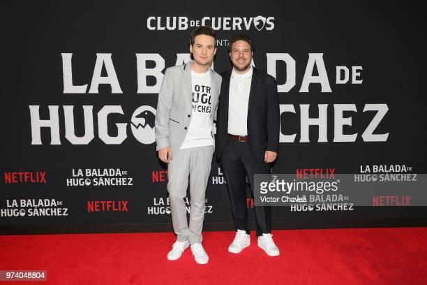 Jesus Zavala and Mark Alazraki attend Netflix 'La Balada de Hugo Sanchez' special screening at Alboa Patriotismo on June 13 2018 in Mexico City Mexico