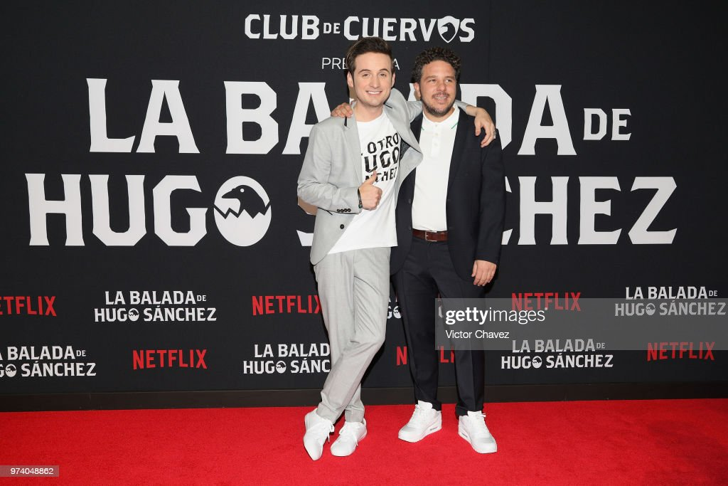 Jesus Zavala and Mark Alazraki attend Netflix 'La Balada de Hugo Sanchez' special screening at Alboa Patriotismo on June 13, 2018 in Mexico City, Mexico.