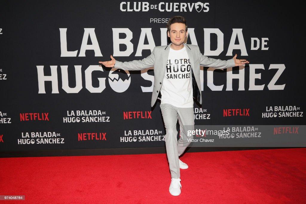 Jesus Zavala attends Netflix 'La Balada de Hugo Sanchez' special screening at Alboa Patriotismo on June 13, 2018 in Mexico City, Mexico.
