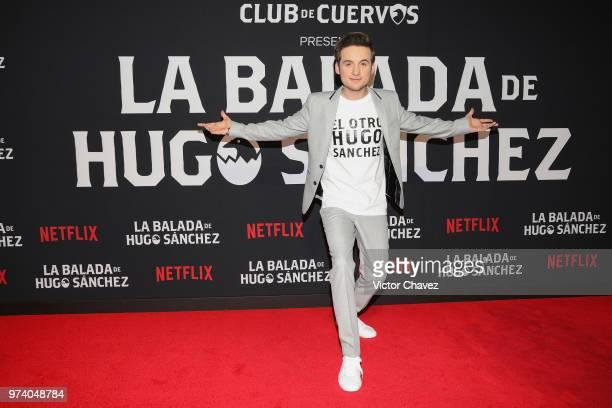 Jesus Zavala attends Netflix 'La Balada de Hugo Sanchez' special screening at Alboa Patriotismo on June 13 2018 in Mexico City Mexico