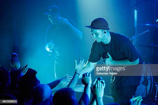 Jeswon and Tuka of Thundamentals perform as support to Hilltop Hoods at Lido on August 17, 2015 in Berlin, Germany.