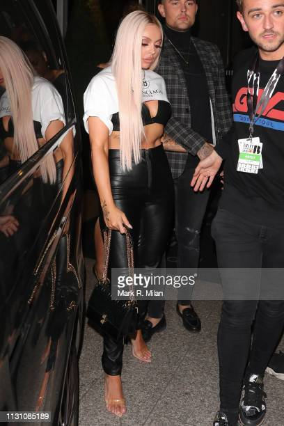Jesy Nelson attending the Sony BRITS 2019 After Party at Aquashard on February 20 2019 in London England