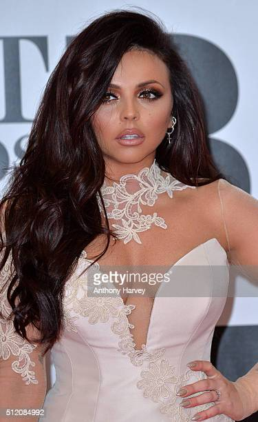 Jesy Nelson attends the BRIT Awards 2016 at The O2 Arena on February 24 2016 in London England