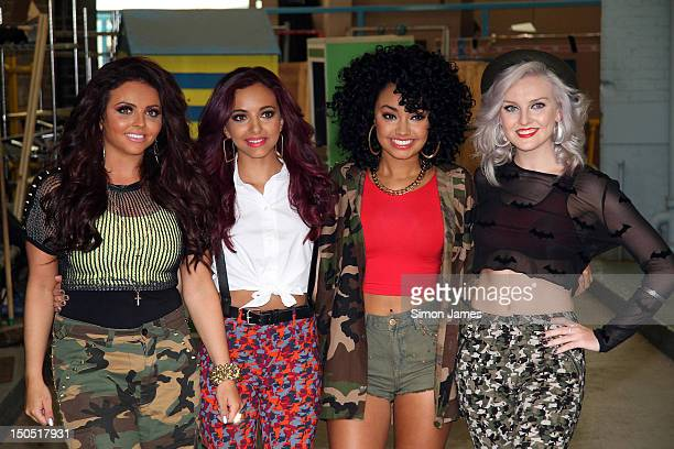 Jesy Nelson Jade Thirlwall LeighAnne Pinnock and Perrie Edwards of Little Mix sighting at ITV studios on August 20 2012 in London England