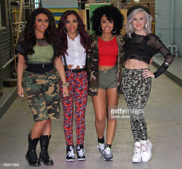 Jesy Nelson, Jade Thirlwall, Leigh-Anne Pinnock and Perrie Edwards of Little Mix sighting at ITV studios on August 20, 2012 in London, England.