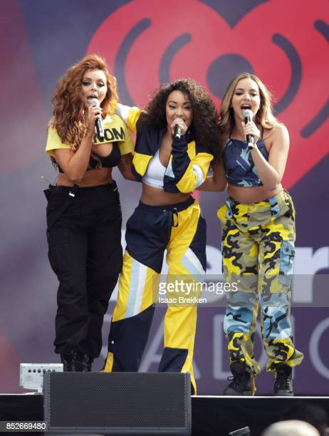 Jesy Nelson LeighAnne Pinnock and Jade Thirlwall of Little Mix perform onstage during the Daytime Village Presented by Capital One at the 2017...