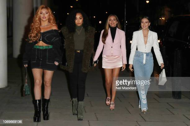Jesy Nelson LeighAnne Pinnock Jade Thirlwall and Perrie Edwards from Little Mix seen at BBC Radio One on November 19 2018 in London England