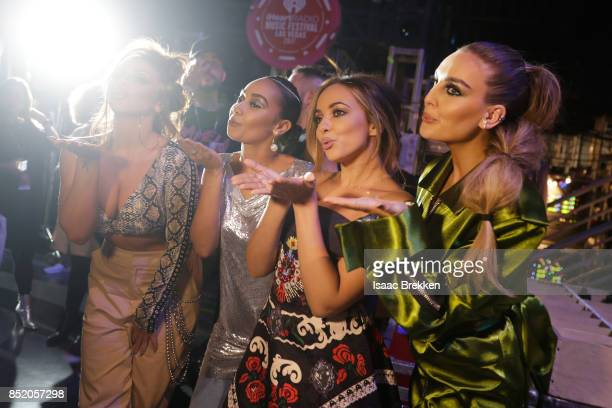 Jesy Nelson LeighAnne Pinnock Jade Thirlwall and Perrie Edwards of Little Mix attend the 2017 iHeartRadio Music Festival at TMobile Arena on...