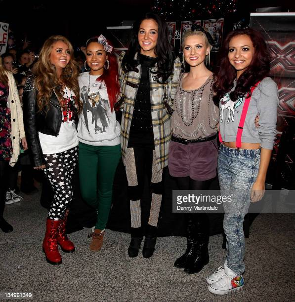 Jesy Nelson LeighAnne Pinnock Mentor Tulisa Contostavlos Perrie Edwards and Jade Thirlwall attend a special signing ahead of this weekend's X Factor...