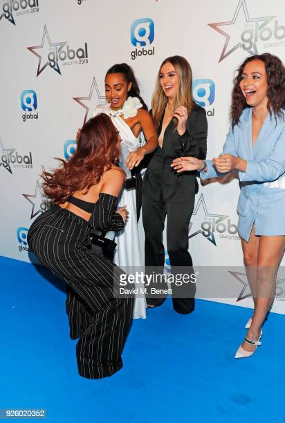 Jesy Nelson LeighAnne Pinnock Perrie Edwards and Jade Thirlwall of Little Mix winners of the Best Group Best British Artist or Group and Best Song...