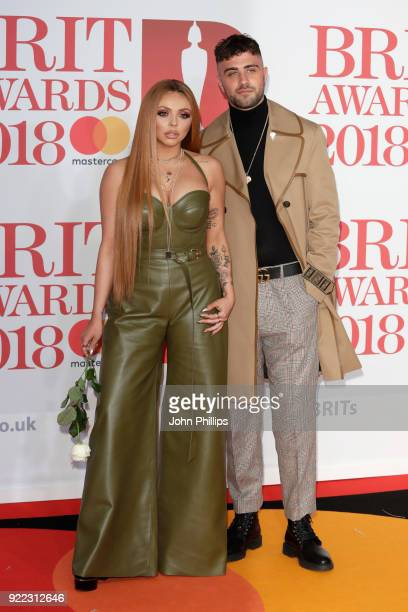 AWARDS 2018*** Jesy Nelson of Little Mix and Harry James attend The BRIT Awards 2018 held at The O2 Arena on February 21 2018 in London England