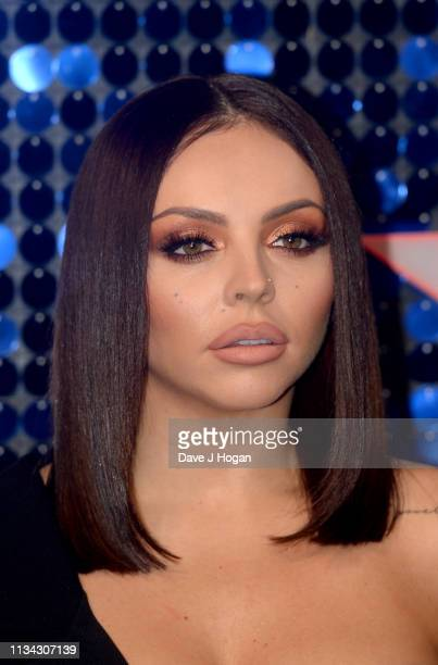 Jesy Nelson of Little Mix arrives at the The Global Awards with Verycouk at Eventim Apollo Hammersmith on March 07 2019 in London England