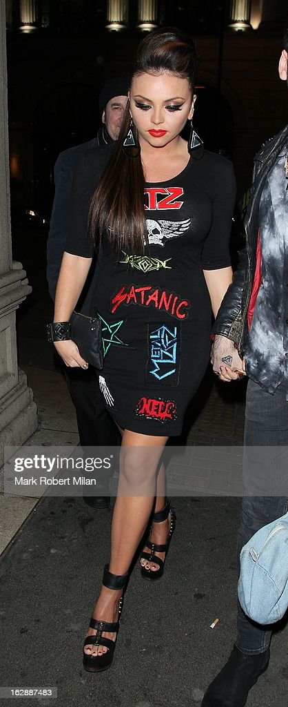 Jesy Nelson of Little Mix at Mahiki night club on February 28, 2013 in London, England.
