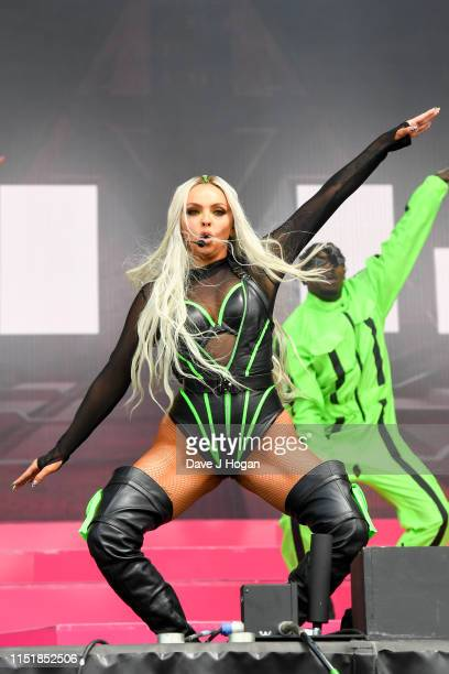 Jesy Nelson of Little Mix performs at the Radio 1 Big Weekend at Stewart Park on May 26 2019 in Middlesbrough England