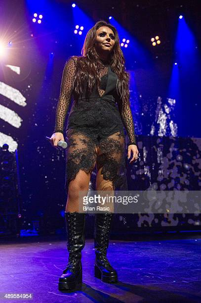 Jesy Nelson of Little Mix performs at The Roundhouse on September 22 2015 in London England