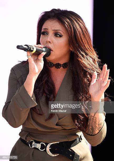 Jesy Nelson of Little Mix performs during Billboard Hot 100 Festival Day 1 at Nikon at Jones Beach Theater on August 22 2015 in Wantagh New York