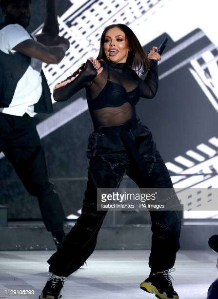 Jesy Nelson of Little Mix performs on stage during The Global Awards 2019 with Verycouk held at London's Eventim Apollo Hammersmith