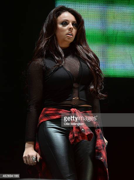 Jesy Nelson of Little Mix performs on stage for Free Radio Live at LG Arena on November 30 2013 in Birmingham United Kingdom
