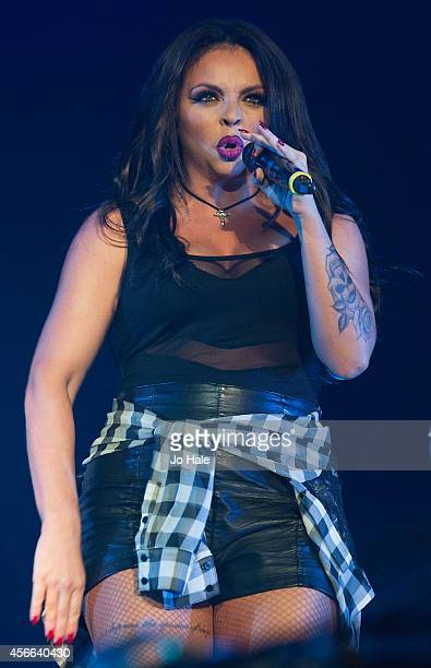 Jesy Nelson of Little Mix performs on stage for the Girlguiding Big Gig 2014 at Wembley Arena on October 4 2014 in London United Kingdom