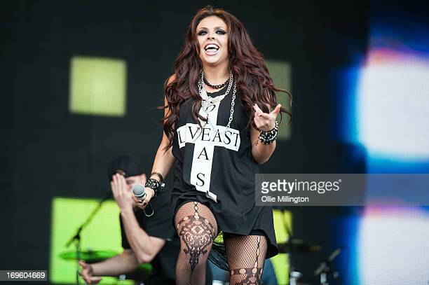 Jesy Nelson of Little Mix performs on stage on Day 3 of Radio 1's Big Weekend Festival on May 26 2013 in Londonderry Northern Ireland