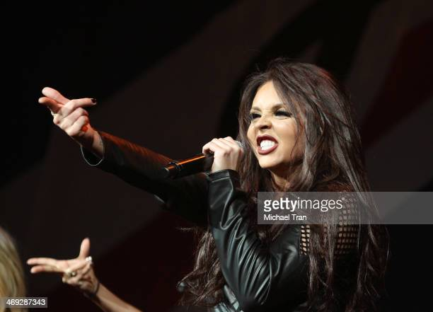 Jesy Nelson of Little Mix performs onstage during The Neon Lights Tour held at Honda Center on February 13, 2014 in Anaheim, California.