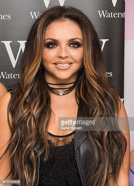 Jesy Nelson of Little Mix poses at the book signing of their new book 'Our World' at Waterstones on October 22 2016 in London England