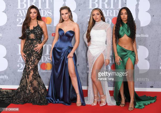 Jesy Nelson Perrie Edwards Jade Thirlwall and LeighAnne Pinnock of Little Mix attend The BRIT Awards 2019 held at The O2 Arena on February 20 2019 in...
