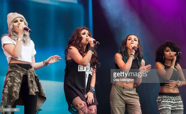 Jesy Nelson, Perrie Edwards, Jade Thirlwall and Leigh-Anne Pinnock of Little Mix perform on stage on Day 3 of Radio 1's Big Weekend Festival on May...