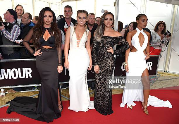 Jesy Nelson Perrie Edwards Jade Thirlwall and LeighAnne Pinnock of Little Mix arrive for the Glamour Women Of The Year Awards in Berkeley Square...