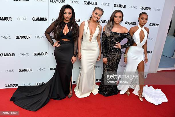 Jesy Nelson Perrie Edwards Jade Thirlwall and LeighAnne Pinnock of Little Mix attend the Glamour Women Of The Year Awards at Berkeley Square Gardens...