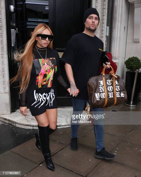 Jesy Nelson seen at KISS FM UK on February 04 2019 in London England