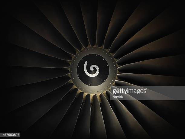 Jet airplane engine turbine