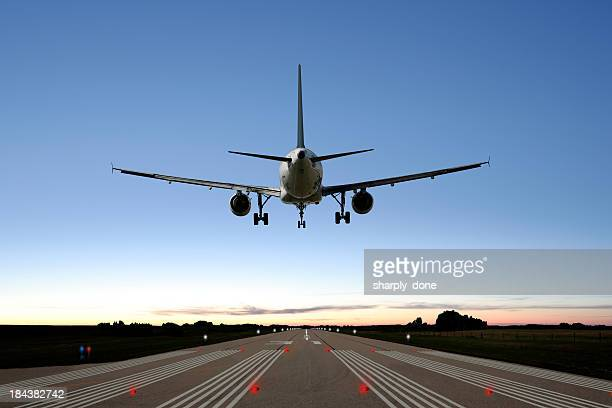 xxl jet airplane landing - airbus a320 stock pictures, royalty-free photos & images