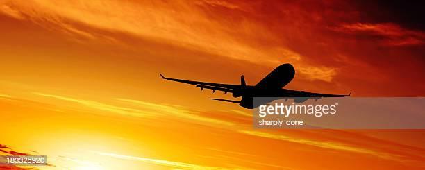 XL jet airplane silhouette