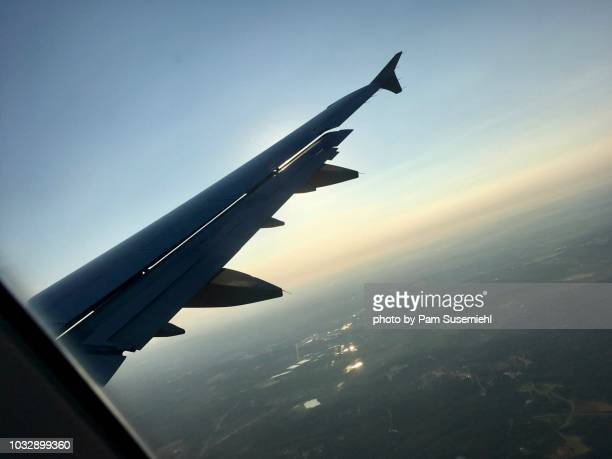 Jet Airplane Wing Over Charlotte, NC
