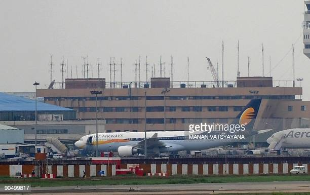 A Jet Airways Airbus A330 aircraft is seen on the tarmac at the Indira Gandhi Airport in New Delhi on September 9 2009 India's secondlargest private...