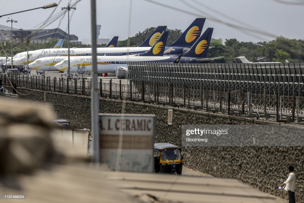 Jet Airways, Once India's Top Carrier, Fights to Keep Flying : News Photo