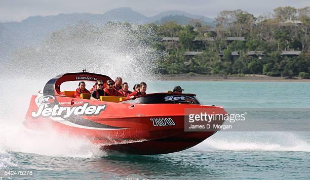 jet boat off the shore on September 9 2010 in Hamitlon Island Queensland