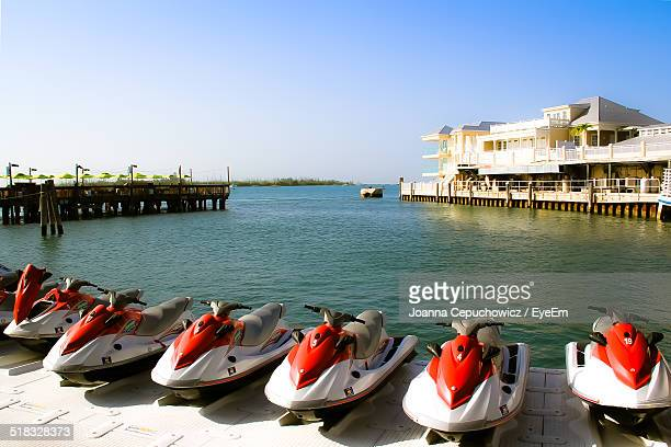 jet boats in row - joanna jet stock pictures, royalty-free photos & images