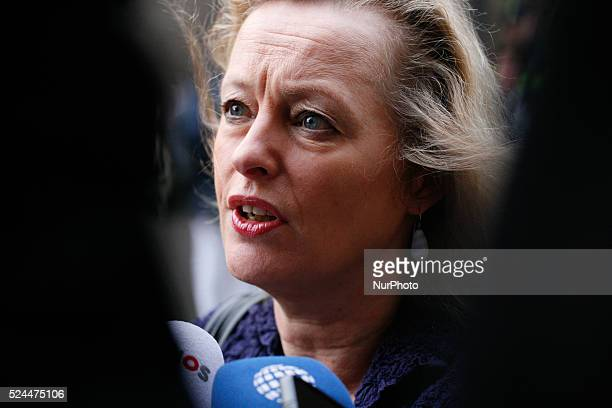 Jet Bussemaker minister of education arrives at the Ministry of General Affairs on December 5 2014 in The Hague Netherlands Every week on friday...