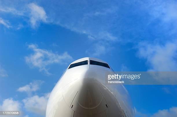 cockpit d'avion avec sky